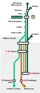 rail map London to Berkhamsted