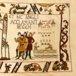 Alderney Tapestry - the English acclaim their new king
