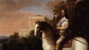 painting of King Charles I on horseback