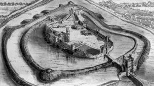 Print of Berkhamsted Castle by Edward Ashridge