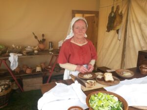 Jill Hatch demonstrates medieval cookery